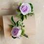 """""""Бутоньерка с розой"""", мастер НАталья Боян , Молдова. Глина №1 + зеленая глина."""