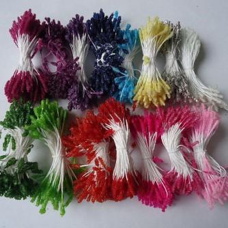 Тычинки глитерные 160 головок с микробисером