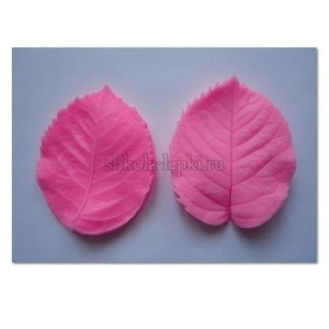 Молд силиконовый лист розы