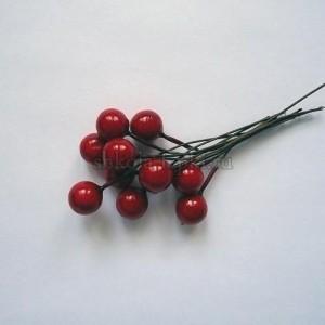 Ягодки на проволоке вишня без сахара пучок (20 ягод).