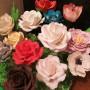 Цветы из мастики, использованы тычинки тайские длинная пыльца и тычинки японский дизайн 2мм, мастер Асуева Анжела, г. Грозный