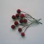 ручная работа, handmade, Ярмарка Мастеров,тычинки,проволока,краска,лак,ягодки,Ягодки,ягода,ягоды,ягодка,ягодки для пуансеттии,рождественская звезда,алый,красный,ярко красный,бордовый,ягодки тычинки,тычинки красные,красные ягодки,пуансеттия,пуансетия,ягодки для пуансетии,тычинки,тычинки для цветов,пестики,вишня