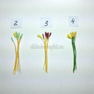 Тычинки для тюльпана 6+1 комплект