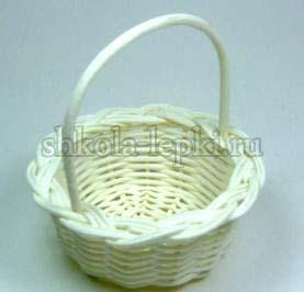 Корзиночка плетеная из ротанга