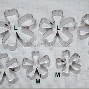 Каттеры сакура набор 3 цветка + 1 чашелистик №3449