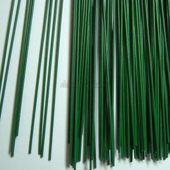 Проволока стальная крашеная темно зеленая -друт 40см длина