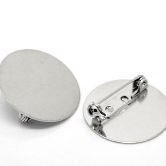 Основа для броши, «серебро»