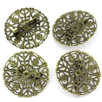Основа для броши филигранная, «античная бронза»