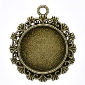 Основа для кулона филигранная круглая