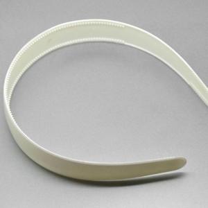 Ободок 25 мм пластик белый
