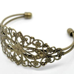 Браслет филигранный овал «античная бронза»