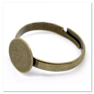 Основа для кольца гладкий диск 10 мм цвет «античная бронза»