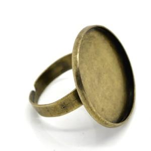 Основа для кольца гладкий диск 23 мм «серебро»