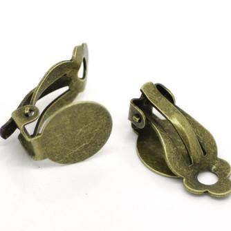 Клипсы — основа для серег с диском