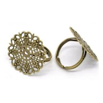 Кольцо паутинка бронза