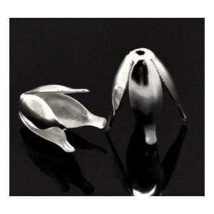 Шапочка концевик цвет серебро (упаковка 20 шт)