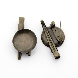 Зажим для волос с булавкой — основа «2 в 1» цвет «античная бронза»