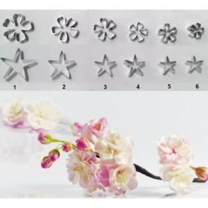 Каттеры сакура набор 1 цветок + 1 чашелистик №3449