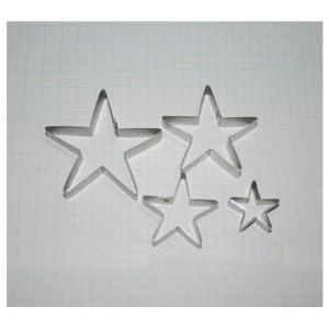 Каттеры чашелистики звездочки в наборе из 4 шт.