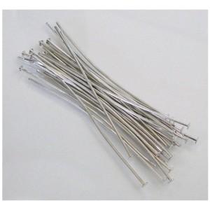 Пины гвоздик «серебро» набор 50 шт