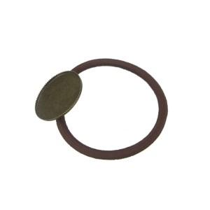 Резинка для волос с круглой платформой