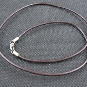 Шнурок с карабином кожа темно-коричневый