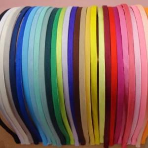 Ободок металлический, обтянутый атласной тканью