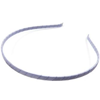 Ободок металлический 5мм, обтянут атласной лентой. цвет светло-сиреневый