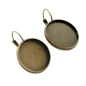 Швензы с сеттингом 20 мм цвет античная бронза
