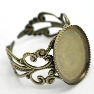 Основа для кольца филигранная винтаж овал
