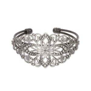 Браслет филигранный овал «античное серебро»