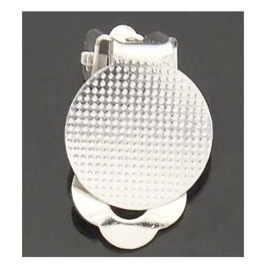 Клипсы основы для серег с диском цвет «серебро»