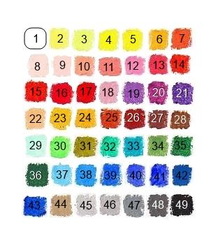 Пастель японская с номерами