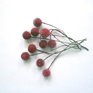 Ягодки на проволоке засахаренная вишня пучок (20 ягод).