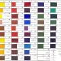 Масляные краски в тюбиках ТАБЛИЦА (чтобы открыть полный размер, нужно открыть изображение в новой вкладке и увеличить)