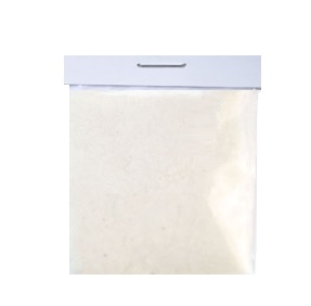 Пыльца флок пудра — ворсовый порошок молочный белый 1,5 мм в пакетике