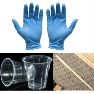 Набор (перчатки, стаканчики, палочка)