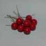 Ягоды бусины 1,5 см бордо