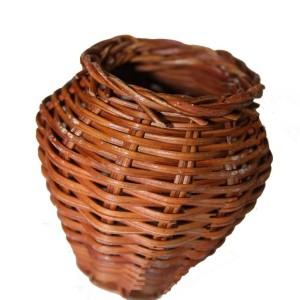 Кашпо плетеное бочонок 6 см, бамбук