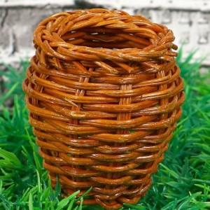 Кашпо бочонок 5×5×6 см, бамбук