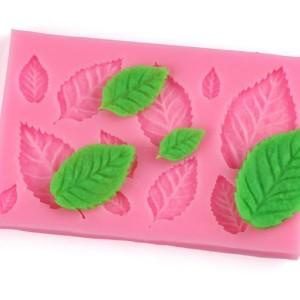 Молд силиконовый листья розы