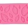 Молд силиконовый листья розы (12 листочков в одном молде)