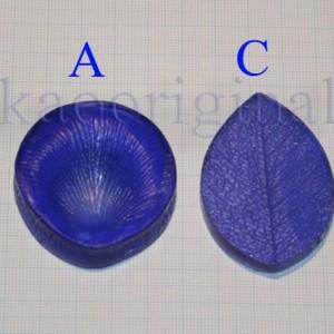 Молды лепесток и лист мини роза в наборе №125 АС