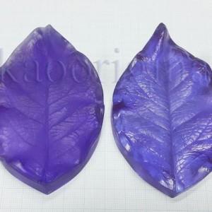 Молд лист розы (набор 2 молда) №500