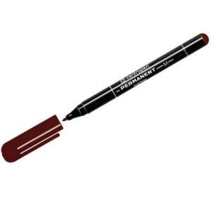 Маркер перманентный коричневый 1мм