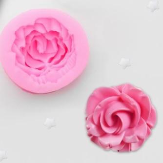 Молд силиконовый роза (розовый)