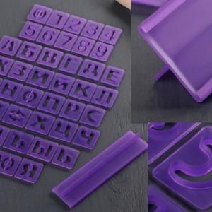Набор вырубок алфавит и цифры