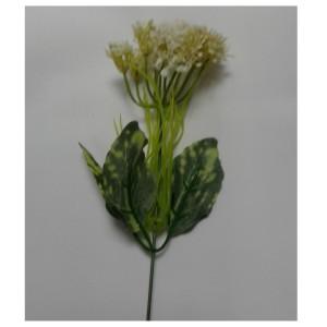 Искусственная зелень #74105  ветка соцветие с листьями