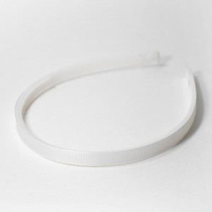 Ободок 1 см с репсовой лентой белый