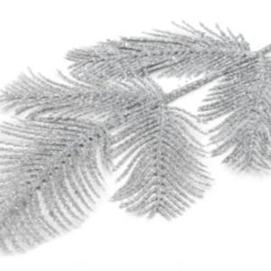 Искусственная зелень ветка серебристая